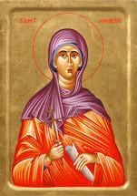 Icon of St. Phoebe - 20th. c - (1PB11)