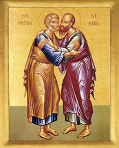 Icon of the Apostles Peter & Paul - 20th c. - (1PP13)