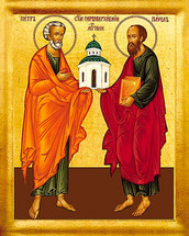 Icon of the Apostles Peter & Paul - 20th c. Russian - (1PP12)