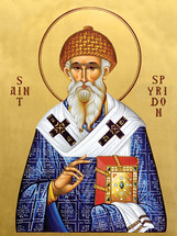 Icon of St. Spyridon - 20th c. St. Anthony's Monastery - (1SP10)