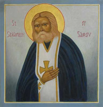 Icon of St. Seraphim of Sarov - English - (1SE16)