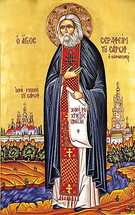 Icon of St. Seraphim Sarov - 20th c. St. Anthony's Monastery - (1SE11)