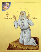Icon of St. Seraphim Sarov - 20th c. - (1SE10)