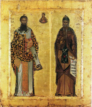 Icon of Ss. Sava and Symeon 17th c. - (SSS10)
