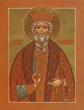 Icon of St. Vladimir, Equal to the Apostles, Enlightener of Russia - English - (1VL11)