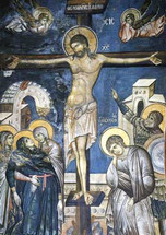 Icon of the Crucifixion - 13th c. Vaotpaidi, Athos - (11H12)