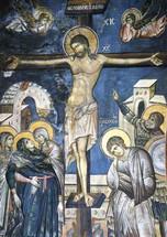 Crucifixion - 13th c. Vaotpaidi, Athos - (11H12)