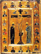 Icon of the Crucifixion - 12th c. Mt. Sinai - (11H03)