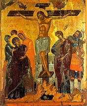 Icon of the Crucifixion - 14th c. Cretan - (11H04)