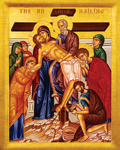 Icon of the Deposition from Cross (The Unnailing) - 20th c. - (11I02)