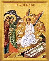 the Icon of Myrrh-Bearers at the Tomb - 20th c. - (11L11)