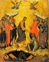 Icon of the Resurrection - 17th c. Cretan - (11K02)