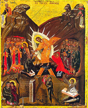 Icon of the Resurrection - 17th c. Dionysiou Monastery - (11K07)