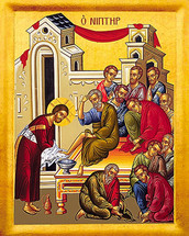 Icon of the Washing the Disciples Feet - 20th c. - (11G30)