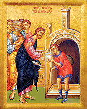 Icon of the Christ Healing the Blind Man - 20th c. - (11L50)