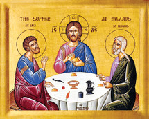 Icon of the Supper at Emmaus - 20th c. - (11L07)