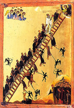 Icon of the Ladder of Divine Ascent - 12th c. Mt. Sinai - (11E40)
