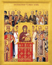 "Icon of the Restoration of Holy Icons ""Sunday of Orthodoxy"" - 20th c. - (11E31)"