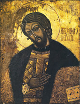 Icon of St. Alexander Nevsky - (1AL50)
