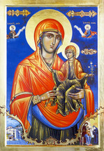 Icon of St. Anna & the Theotokos (Mt. Athos) - 20th c. - (1AN41)