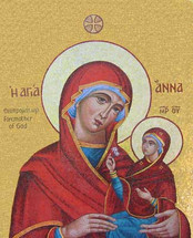 Icon of St. Anna and the Theotokos - Mosaic - (1AN44)