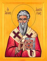 Icon of St. Antipas of Pergamos - 20th c. - (1AN80)