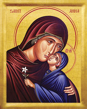 Icon of St. Anna and the Theotokos - 20th c. - (1AN43)