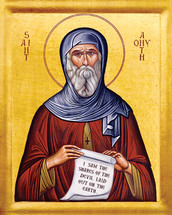 Icon of St. Anthony the Great - 20th c. - (1AN53)