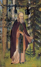 Icon of St. Herman of Alaska (with Bells) - (1HE09)