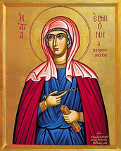 Icon of St. Hermione - 20th c. - (1HR10)