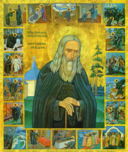 Icon of St. Herman of Alaska (with scenes from his life) - (1HE08)
