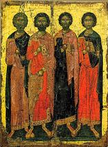 Icon of Ss. Kanidios, Eugenis, Valerianos & Akylas - (1KE10)