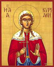 Icon of St. Kyriaki the Martyr - 20th c. - (1KY10)