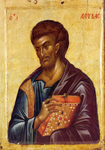 Icon of the Apostle Luke - 14th c. Hilandar Monastery - (1LU29)