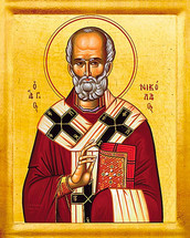 Icon of St. Nicholas the Wonderworker - (1NI15)