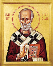Icon of St. Nicholas of Myra - 20th c. - (1NI12)