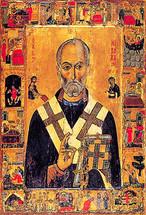Icon of St. Nicholas of Myra - 13th c. Mt. Sinai - (1NI13)