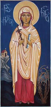 Icon of St. Nino (Nina) of Georgia - 20th c. Georgian - (1NI07)