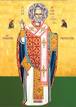 Icon of St. Nicholas the Fervent Protector - 20th c. - (1NI10)