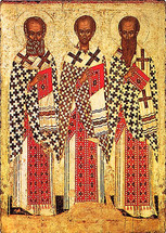 Icon of the Three Hierarchs - 15th c. Novgorod - (1TH91)