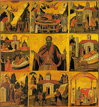 Icon of St. Theodosios the New - 17th c. Cretan - (1TH35)