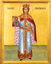 Icon of St. Theodora the Empress - 20th c. - (1TH05)