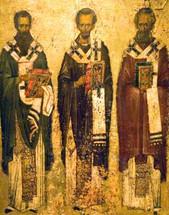 Icon of the Hierarchs - 13th c. Vatopaidi, Mt. Athos - (1TH92)
