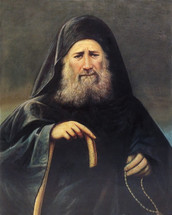 Righteous Joseph the Hesychast - Painting 20th c. - (GJH10)
