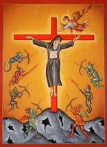 Icon of The Crucified Monk - 20th c. - (11J10)
