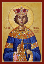 Icon of St. Irene Great Martyr - 20th c. - (1IR22)