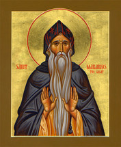Icon of St. Makarios the Great 20th c. (Athonite) - (1MA90)