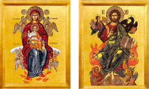Icon set of Christ the Just Judge - (MCT11)