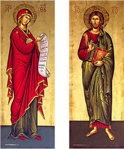 Icon set of the Benefactor and Intercessor - (MCT12)
