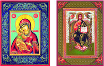 Icon se of the Light Giver and Angelic Mother - (MCT13)